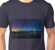 Northern lights at the lighthouse Unisex T-Shirt