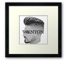 Fade Wenton (Black & White) Framed Print