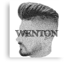 Fade Wenton (Black & White) Canvas Print