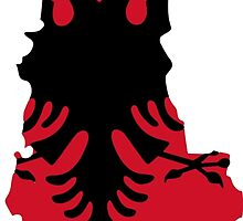Flag Map of People's Socialist Republic of Albania, 1946-1992 by abbeyz71