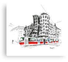 Urban sketch of Prague Canvas Print