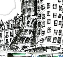 Urban sketch of Prague Sticker