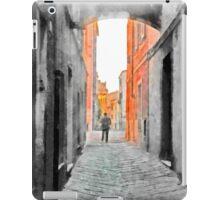 Sassari: man in the alley iPad Case/Skin