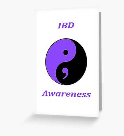 IBD Awareness Semicolon Greeting Card
