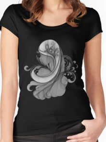 Glamour Girl pencil drawing Women's Fitted Scoop T-Shirt