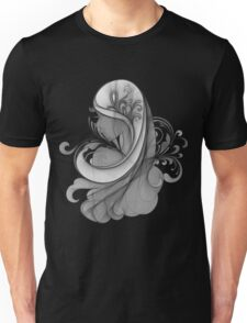Glamour Girl pencil drawing Unisex T-Shirt
