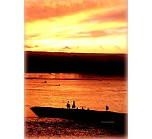 Sunset Geese Photographic Print