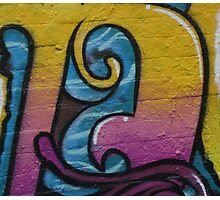 Graffiti Swirls. Photographic Print