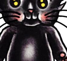 Black Cat Kewpie Sticker