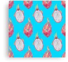 Dragon Fruit pattern Canvas Print