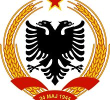 Emblem of People's Socialist Republic of Albania 1946-1992 by abbeyz71