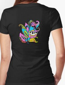 Fun and Funky, Fanciful Feather Womens Fitted T-Shirt
