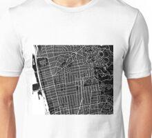 Berkeley Map - Black Unisex T-Shirt