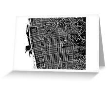Berkeley Map - Black Greeting Card
