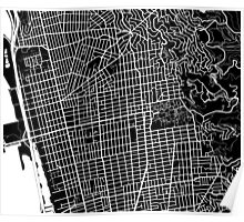 Berkeley Map - Black Poster