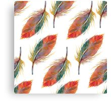 Feather pattern Canvas Print