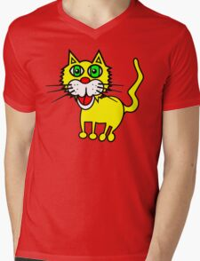 Artworksy Cat Mens V-Neck T-Shirt