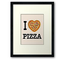 I Love Pizza Framed Print