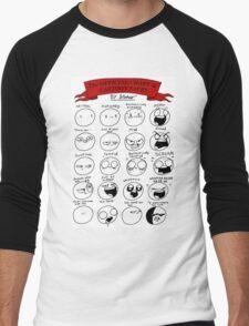 The OFFICIAL CHART of CARTOON FACES Men's Baseball ¾ T-Shirt