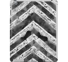 Black and white grunge zag stripessss iPad Case/Skin