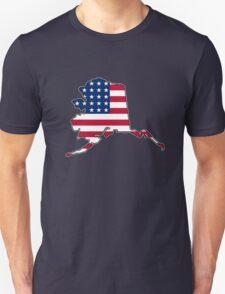 American flag Alaska outline Unisex T-Shirt