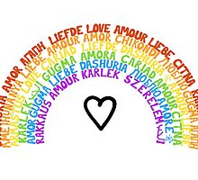 "LGBTQ+ Rainbow ""Love"" multi-language  by alexbeppo"