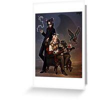 Angel and demon Greeting Card