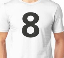 Comic Number 8 Eight Unisex T-Shirt