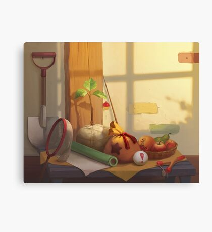 Animal Crossing Still Life Canvas Print