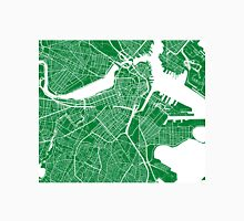 Boston Map - Green Unisex T-Shirt