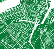 Boston Map - Green Sticker