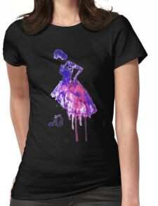 Watercolour fashion Womens Fitted T-Shirt