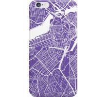 Boston Map - Purple iPhone Case/Skin