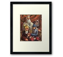 Megaman Family Portrait Framed Print