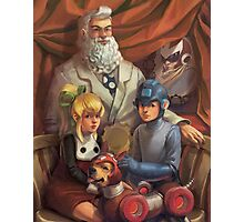 Megaman Family Portrait Photographic Print