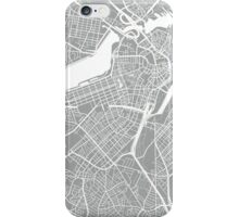 Boston Map - Light Grey iPhone Case/Skin