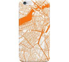 Boston Map - Orange Inverted iPhone Case/Skin
