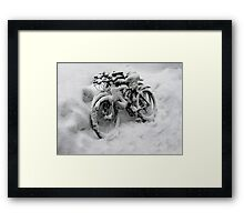 Three Bicycles Framed Print