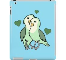 Valentine's Day Green Love Bird with Hearts iPad Case/Skin