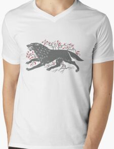 Old Wolf Mens V-Neck T-Shirt