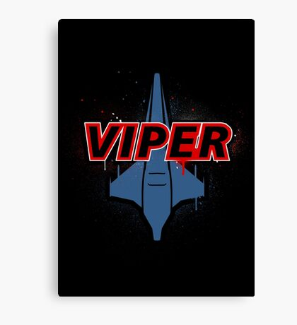 Battlestar Galactica Design - Viper Canvas Print