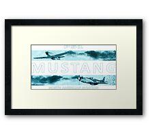 Mustang P51 Framed Print
