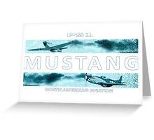 Mustang P51 Greeting Card