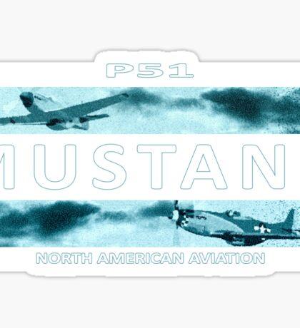 Mustang P51 Sticker