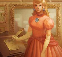 Princess Peach Portrait by Lizustration