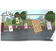 Pop Tart Basketball Rick and Morty Poster