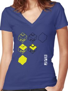 Cubes of the Line Women's Fitted V-Neck T-Shirt