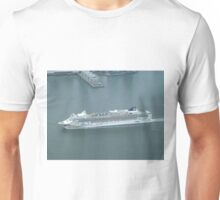Aerial View, Norwegian Gem Cruise Ship, One World Observatory, World Trade Center Observation Deck, Lower Manhattan, New York City Unisex T-Shirt