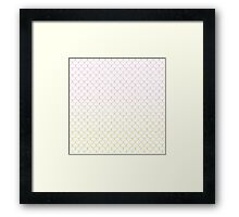 Mermaid Scales in Sunset Flames Framed Print