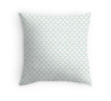 Mermaid Scales in Green Throw Pillow